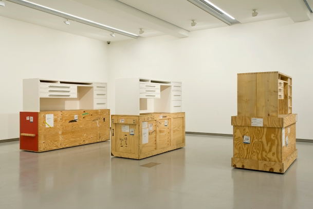 Simon Starling, Three White Desks (2006-9 ) _ photo by John Brash